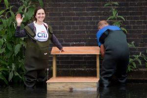 Launching a duck platform