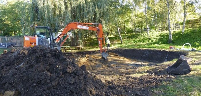 Pond creation at Mudchute