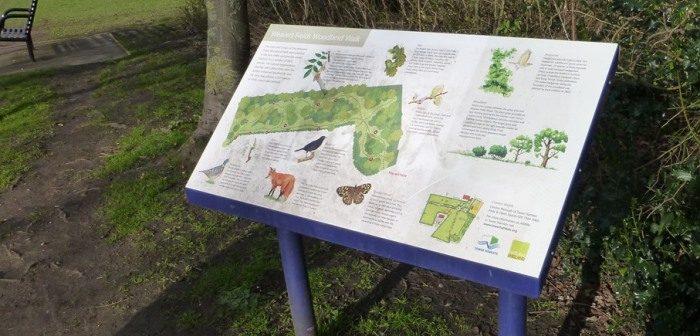Signage at Woodland Walk