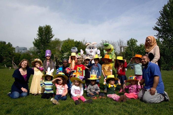 Mudchute Easter Bonnet parade