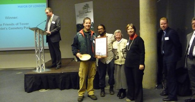 Friends of Tower Hamlets Cemetery Park at 2010 woodland awards