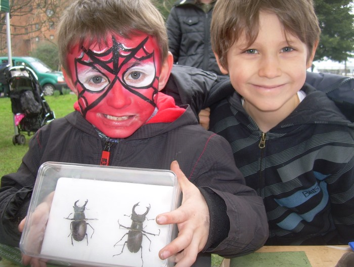 Children with Stag Beetles