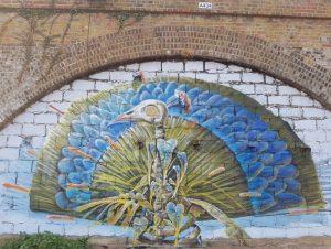 Peacock mural