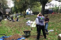 Tree planting at Gordon House