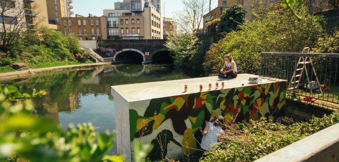 Painting the kingfisher bank
