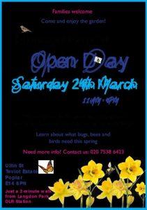 Flowerpot Garden Open Day poster