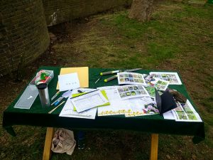 Table with leaflets