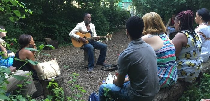 Music event, Bethnal Green Nature Reserve