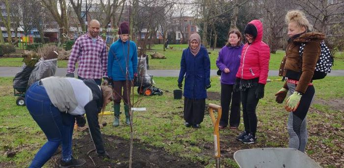 Planting an orchard in Meath Gardens