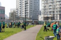 Community tree planting event at Langdon Park