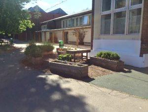 Allotment planters, Stebon School