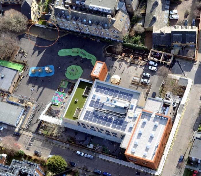 Aerial view of Olga Primary School