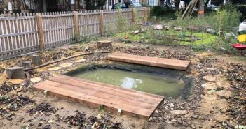 New pond at Olga Primary School