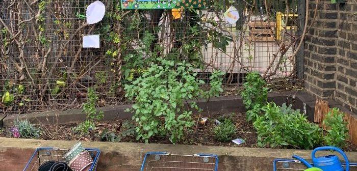 William Davis school bee garden
