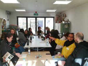 Volunteers on tea break