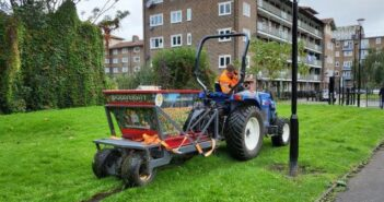 Photo of bulb planting machine in Meath Gardens